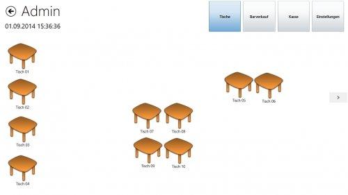 Tischübersicht