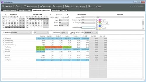 Termin- und Ressourcenplanung ConAktiv Client