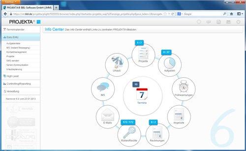 1. Produktbild PROJEKTA® - CRM, Zeiterfassung und Abrechnung für Projekte