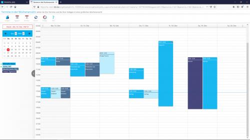 Termine im Wochenkalender