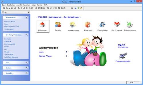 1. Produktbild KAI2016 ® - KITA Software
