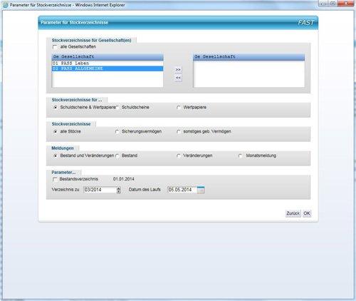 Meldewesen BaFin-Sicherungsvermögensverzeichnis