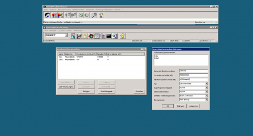 Archiv Client (CA Explorer): Platten mounten