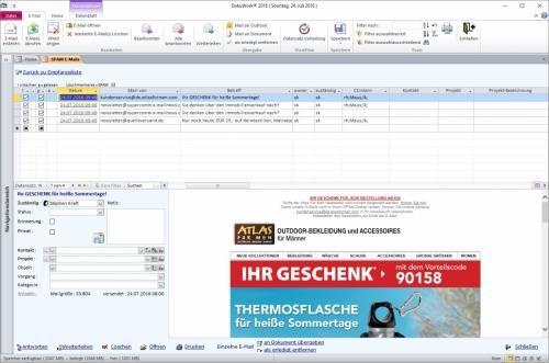 11. Produktbild DokuWork kombiniert CRM mit Dokumenten-Management und Projekten
