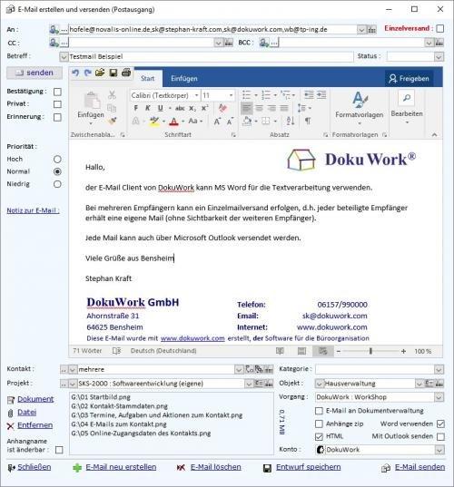 12. Produktbild DokuWork kombiniert CRM mit Dokumenten-Management und Projekten