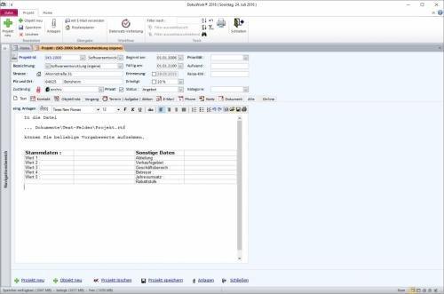 6. Produktbild DokuWork kombiniert CRM mit Dokumenten-Management und Projekten