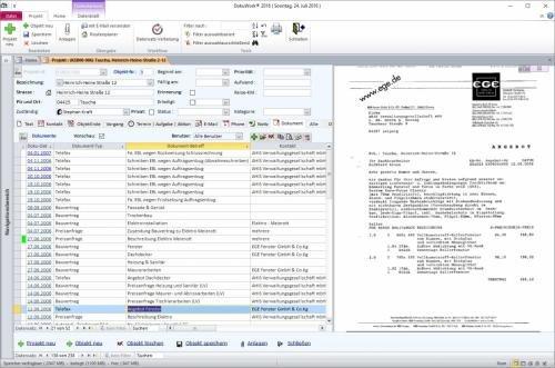 8. Produktbild DokuWork kombiniert CRM mit Dokumenten-Management und Projekten