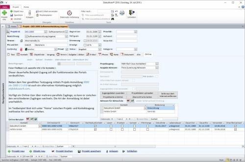 9. Produktbild DokuWork kombiniert CRM mit Dokumenten-Management und Projekten