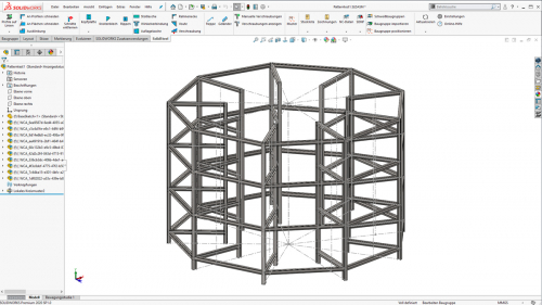 Komplexe Stahlkonstruktionen in SOLIDWORKS