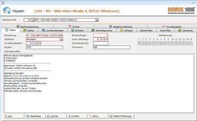 1. Produktbild DOMUS 1000 - Software für die Hausverwaltung