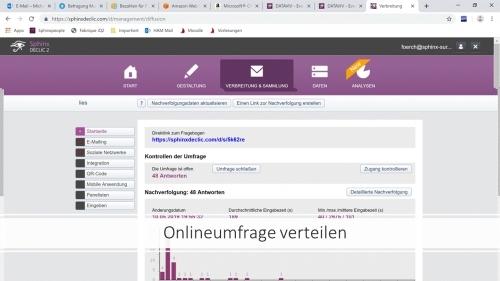 Verteilung des Onlinefragebogens