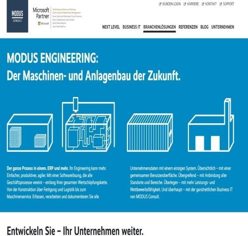 MODUS PLASTICS integriert in MODUS ENGINEERING, Homepage MODUS Consult AG