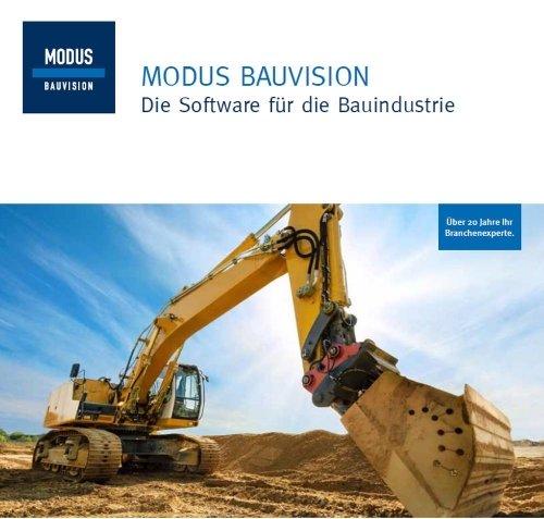 Produktbroschüre MODUS BAUVISION