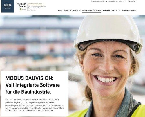 MODUS BAUVISION auf www.modusconsult.de/