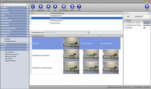 adad95 - Die Übungen für den Patienten, arbeiten Sie mit Ihren eigenen Fotos.
