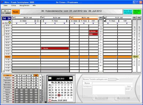 3. Produktbild Büro & Praxis Terminplaner 3000
