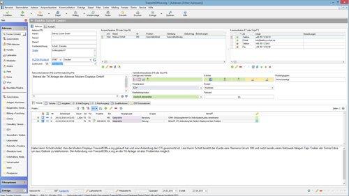 1. Produktbild Kundenbeziehungsmanagement - Treesoft CRM