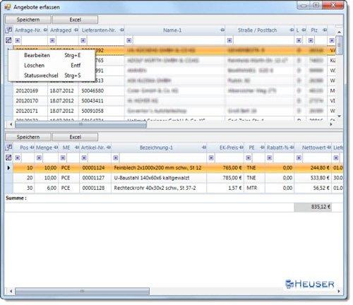 4. Produktbild HDA Bestellwesen, Einkauf