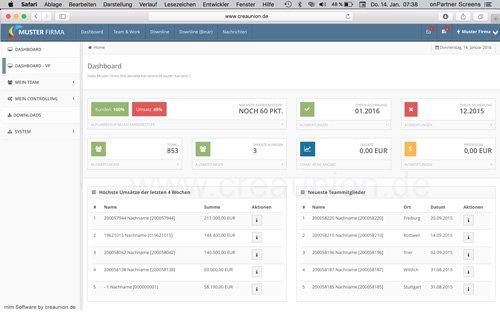 1. Produktbild onPartner - mlm Software für Networkmarketing und Direktvertrieb