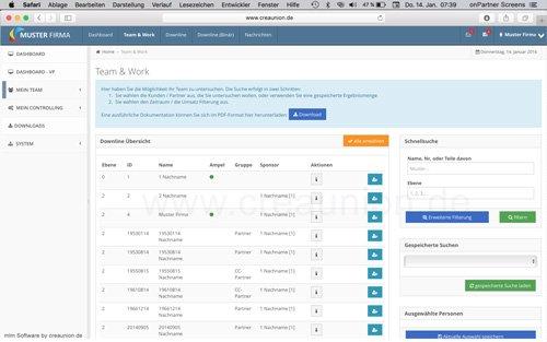3. Produktbild onPartner - mlm Software für Networkmarketing und Direktvertrieb