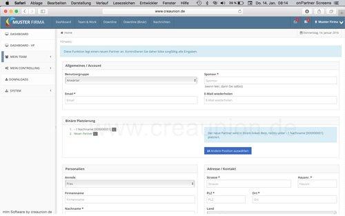 5. Produktbild onPartner - mlm Software für Networkmarketing und Direktvertrieb