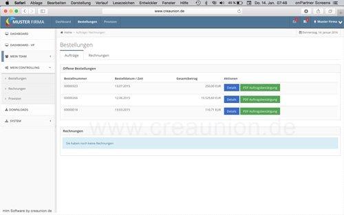 7. Produktbild onPartner - mlm Software für Networkmarketing und Direktvertrieb