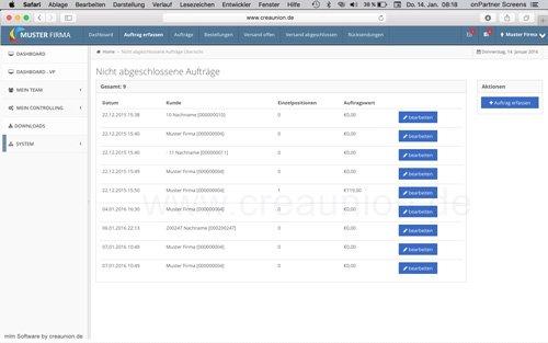 12. Produktbild onPartner - mlm Software für Networkmarketing und Direktvertrieb