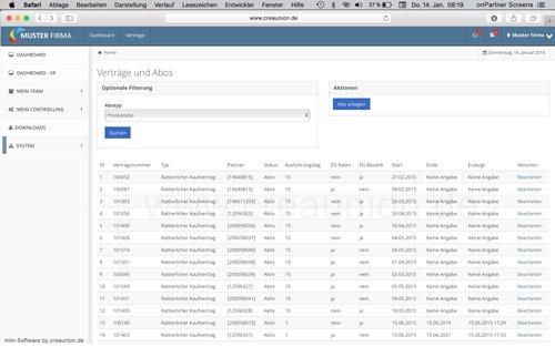 14. Produktbild onPartner - mlm Software für Networkmarketing und Direktvertrieb