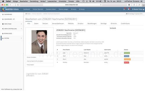 16. Produktbild onPartner - mlm Software für Networkmarketing und Direktvertrieb