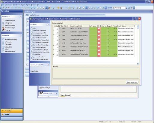 1. Produktbild mpsARES -  Software für Bauhöfe, Eigenbetriebe und Werke