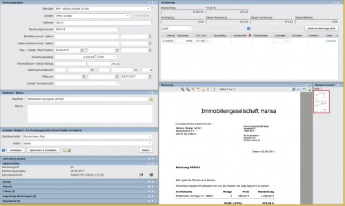 Digitale Rechnungsbearbeitung