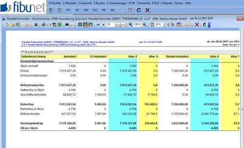 Beliebige Kostenstellen- und Kostenträgerauswertungen