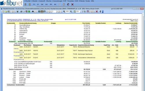 Kostenrechnung Berichtsdesigner