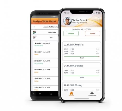 Zeiterfassung per iPhone oder Android-Smartphone