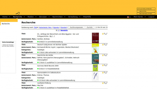 3. Produktbild Libreja - Bibliothekssoftware