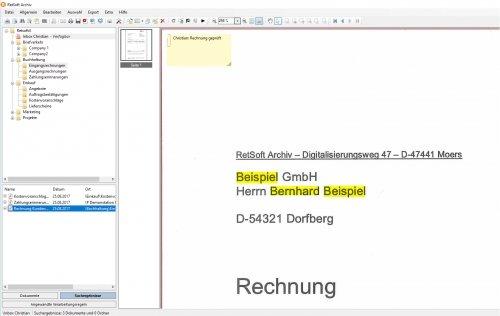 RetSoft Screenshot - Benutzeroberfläche