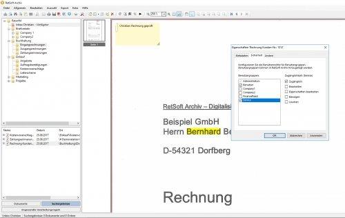 RetSoft Screenshot - Benutzerberechtigung