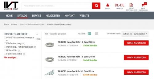 IVT Webshop Produkte