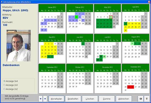 6. Produktbild Urlaub - Abwesenheitsplaner Personaleinsatzplanung
