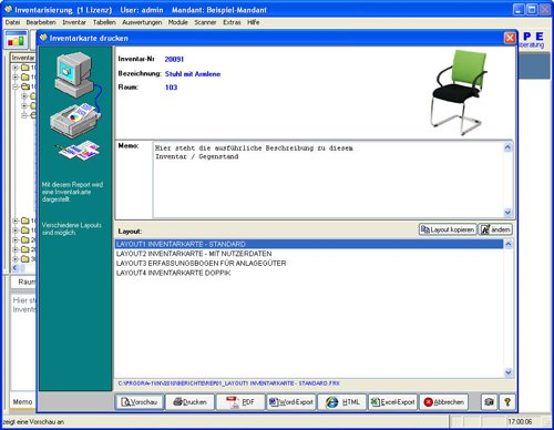 7. Produktbild Inventarsoftware für Barcode Inventur-Etiketten