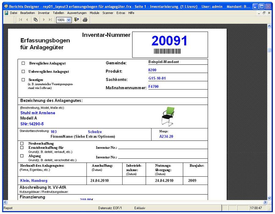 8. Produktbild Inventarsoftware für Barcode Inventur-Etiketten