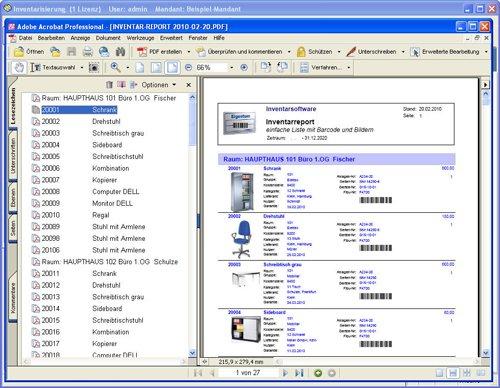9. Produktbild Inventarsoftware für Barcode Inventur-Etiketten