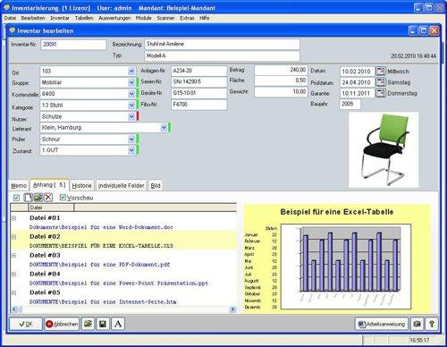 5. Produktbild Inventarsoftware für Barcode Inventur-Etiketten
