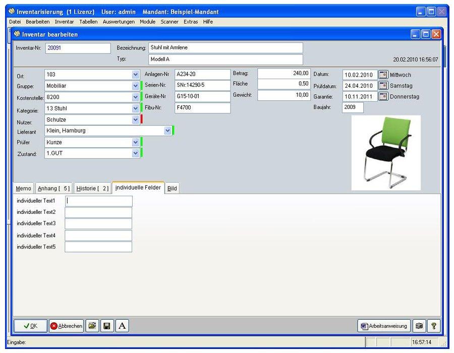 6. Produktbild Inventarsoftware für Barcode Inventur-Etiketten