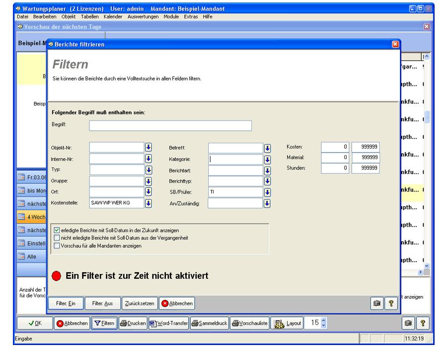 10. Produktbild Wartungsplaner BGV Prüffristenmanagement Instandhaltungssoftware