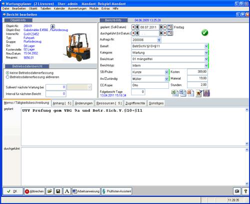4. Produktbild Wartungsplaner BGV Prüffristenmanagement Instandhaltungssoftware