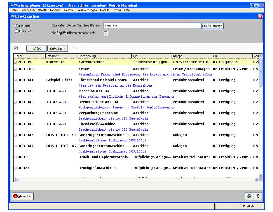 7. Produktbild Wartungsplaner BGV Prüffristenmanagement Instandhaltungssoftware