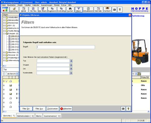 8. Produktbild Wartungsplaner BGV Prüffristenmanagement Instandhaltungssoftware
