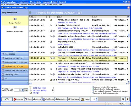 9. Produktbild Wartungsplaner BGV Prüffristenmanagement Instandhaltungssoftware