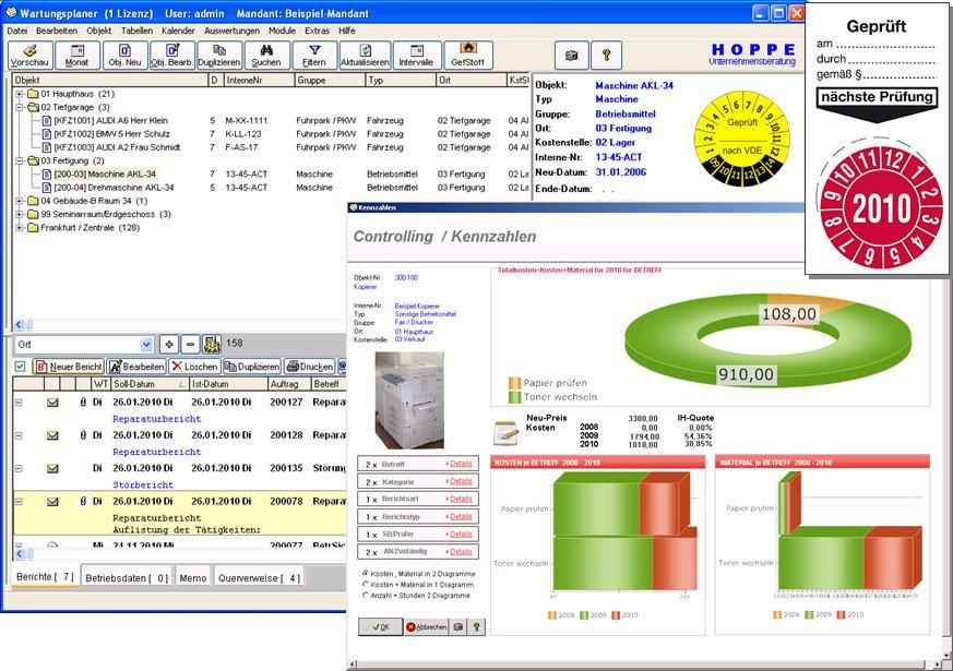 5. Produktbild Wartungsplaner BGV Prüffristenmanagement Instandhaltungssoftware